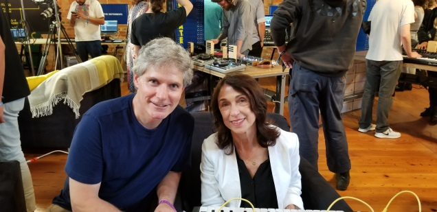 Suzanne Ciani with a Fan